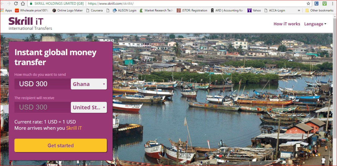 How to Withdraw Funds from Skrill Account Into Mobile Money Wallet in Ghana